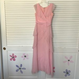 Dresses & Skirts - VINTAGE 70s Pink Ruffle Prom Dress